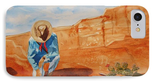 IPhone Case featuring the painting Prayer For Earth Mother by Ellen Levinson