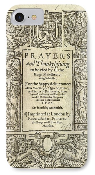 Prayers And Thanksgiving IPhone Case by British Library