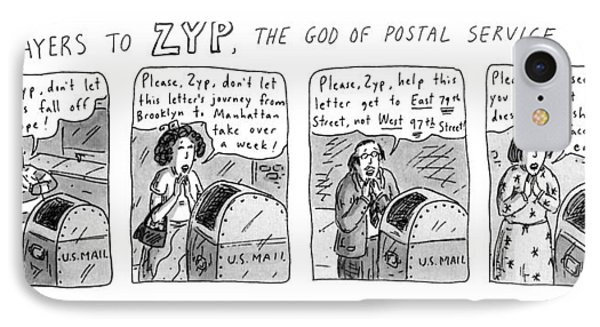 Prayers To Zyp IPhone Case by Roz Chast