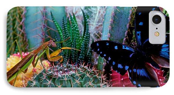 Praying Mantis  Predator And Prey Phone Case by Leslie Crotty