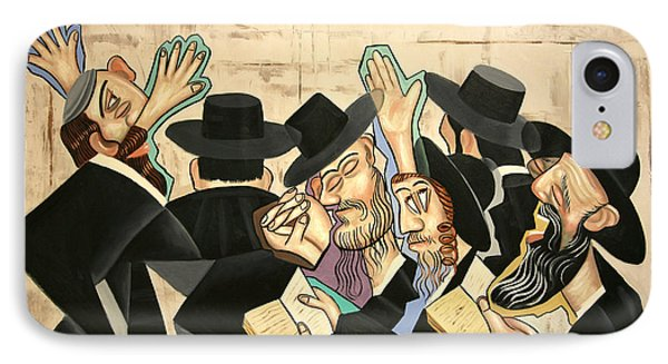 Praying Rabbis IPhone Case by Anthony Falbo