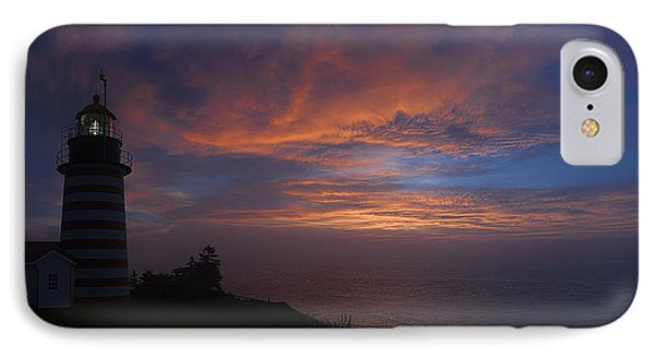 Pre Dawn Lighthouse Sentinal Phone Case by Marty Saccone
