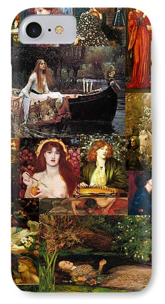 Pre Raphaelite Collage Phone Case by Philip Ralley