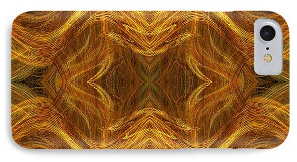 Precious Metal 3 Ocean Waves Dark Gold Phone Case by Andee Design