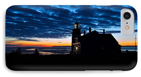 Predawn Light At West Quoddy Head Lighthouse IPhone Case by Marty Saccone