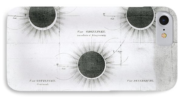 Predicted Annular Solar Eclipse Of 1820 IPhone Case