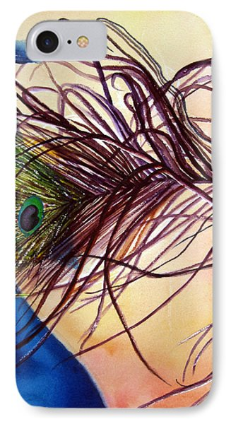 IPhone Case featuring the painting Preening For Attention Sold by Lil Taylor