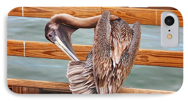 Preening IPhone Case by Ginny Schmidt