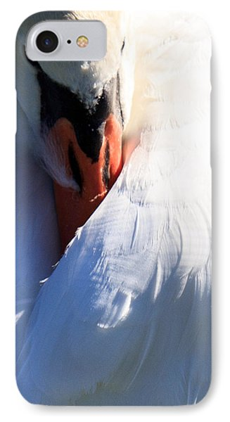 IPhone Case featuring the photograph Preening Swan by Cathy Donohoue