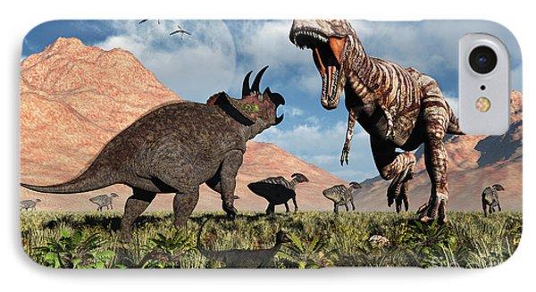 Prehistoric Battle Phone Case by Mark Stevenson
