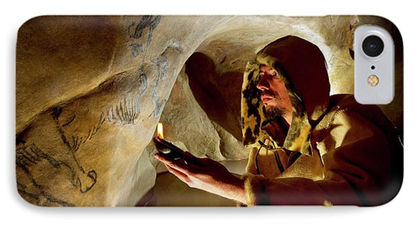 Prehistoric Cave Paintings IPhone Case by Philippe Psaila