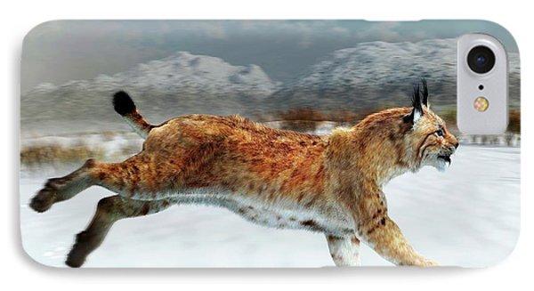 Prehistoric Iberian Lynx IPhone Case by Jose Antonio Pe�as