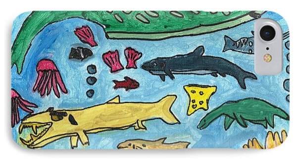 Prehistoric Sea IPhone Case by Artists With Autism Inc