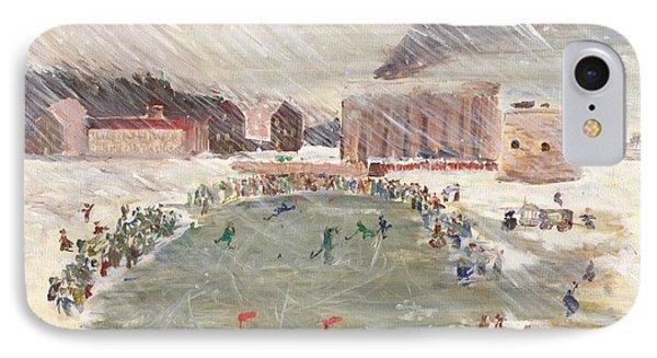 Premier Match De Hockey IPhone Case by David Dossett