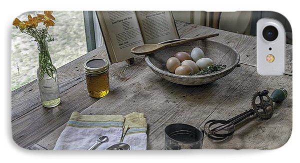 Preparing Dinner With Marjorie  Phone Case by Lynn Palmer