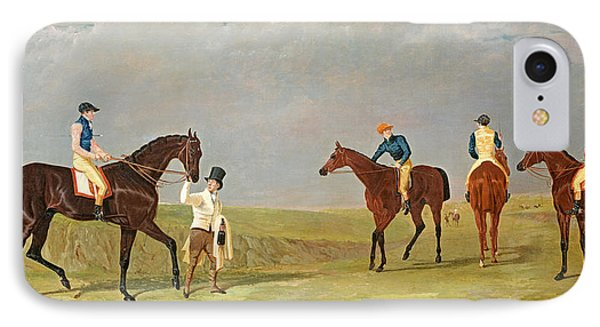 Preparing To Start For The Doncaster Gold Cup 1825 IPhone Case by John Frederick Herring Senior
