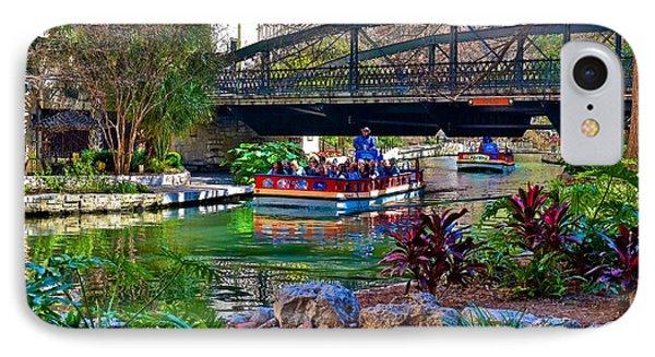 IPhone Case featuring the photograph Presa Street Bridge Over Riverwalk by Ricardo J Ruiz de Porras