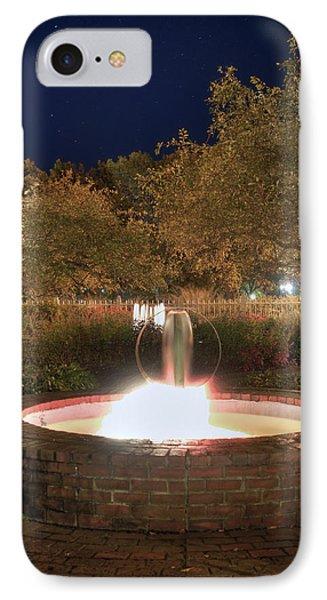Prescott Park Fountain Phone Case by Joann Vitali