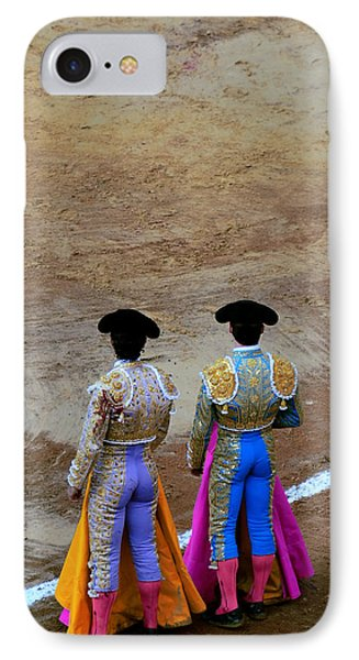 Presence Of The Bullfighters Phone Case by Laura Jimenez