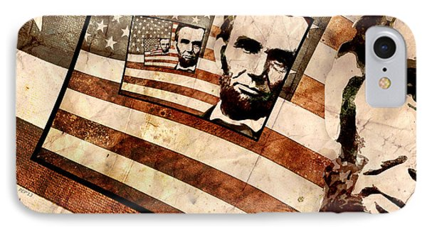 President Abraham Lincoln IPhone Case by Phil Perkins