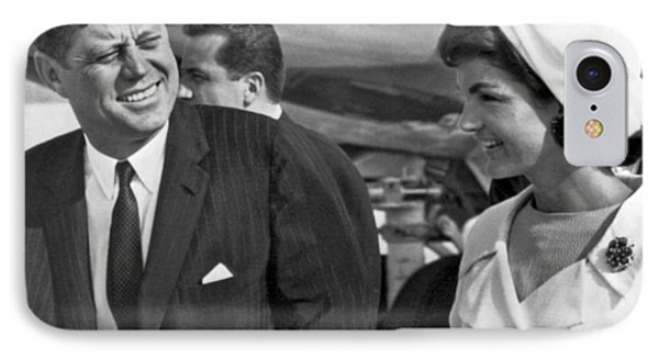 President And Mrs. Kennedy IPhone Case by Underwood Archives