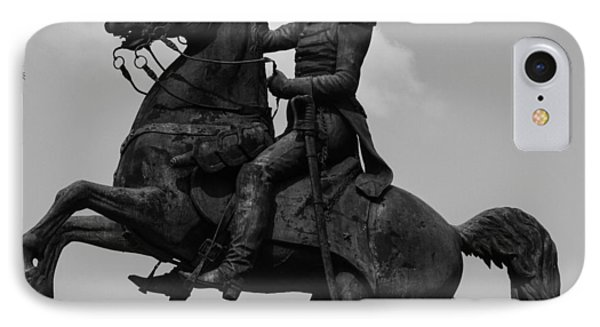 IPhone Case featuring the photograph President Andrew Jackson Statue by Robert Hebert