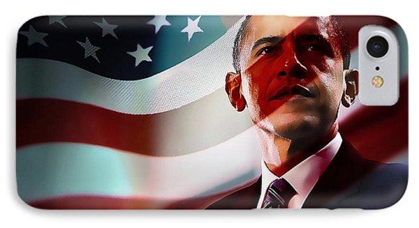 President Barack Obama IPhone Case by Marvin Blaine
