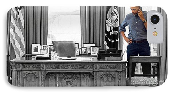 President Barack Obama IPhone Case by Doc Braham