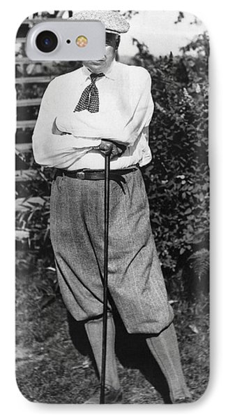 President Harding Playing Golf IPhone Case by Underwood Archives