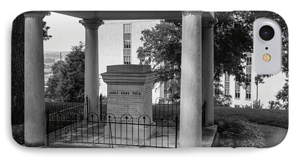 IPhone Case featuring the photograph President James K Polk Tomb by Robert Hebert