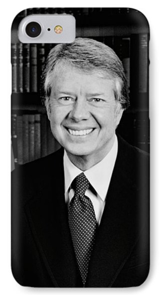 President Jimmy Carter  IPhone Case by War Is Hell Store