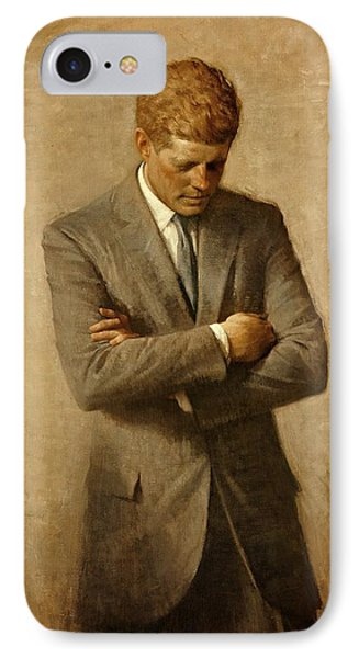 President John F. Kennedy Official Portrait By Aaron Shikler IPhone Case by Movie Poster Prints
