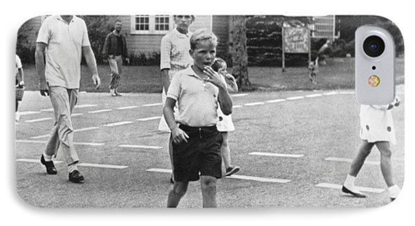 President Kennedy And Children IPhone Case