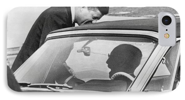 President Kennedy And Father IPhone Case