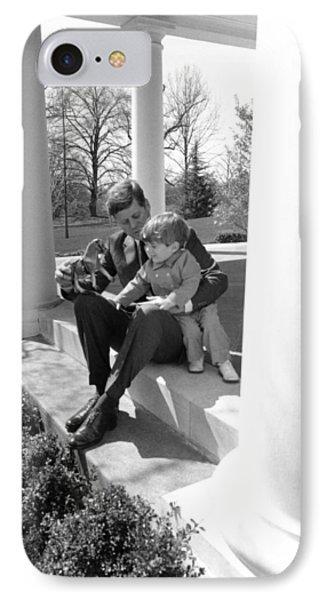 President Kennedy And John-john IPhone Case
