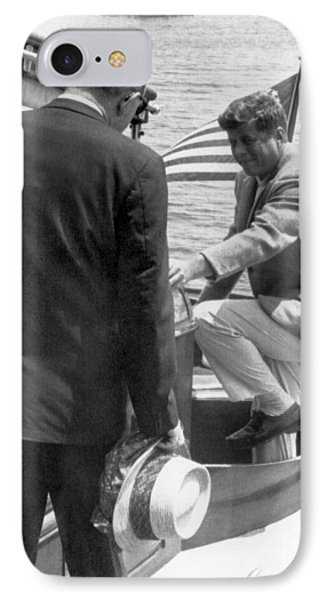 President Kennedy And Rusk IPhone Case