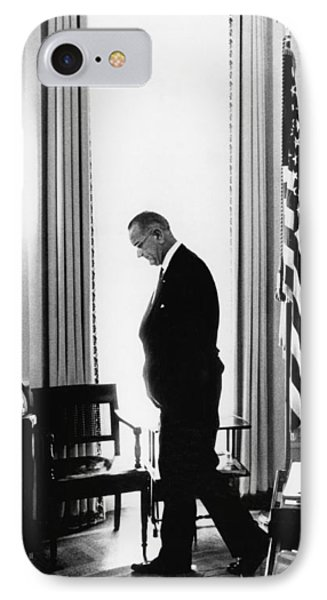 President Lyndon Johnson Paces IPhone Case by Underwood Archives