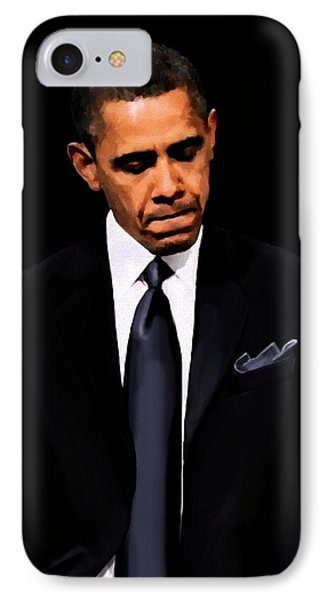 President Obama IPhone Case by Jann Paxton