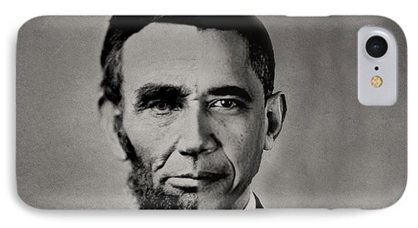 President Obama Meets President Lincoln IPhone Case by Doc Braham