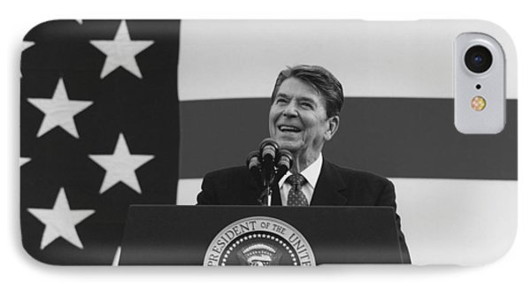 President Reagan American Flag  Phone Case by War Is Hell Store