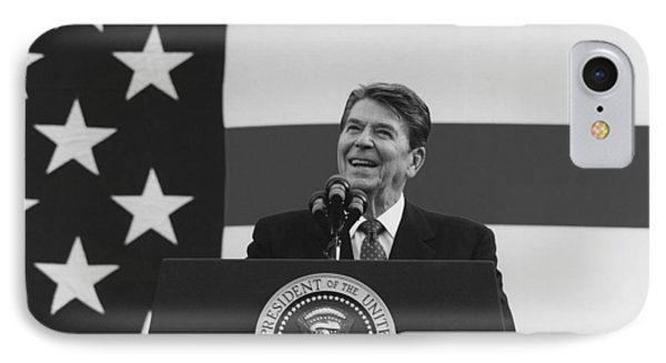 President Reagan American Flag  IPhone Case