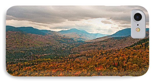 Presidential Range In Autumn Watercolor Phone Case by Brenda Jacobs