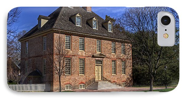 IPhone Case featuring the photograph President's House College Of William And Mary by Jerry Gammon