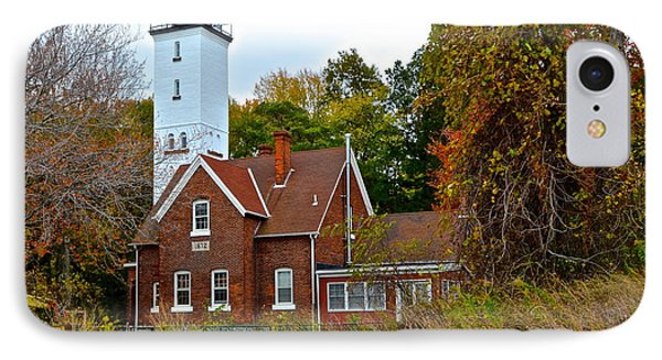 Presque Isle Lighthouse Phone Case by Frozen in Time Fine Art Photography