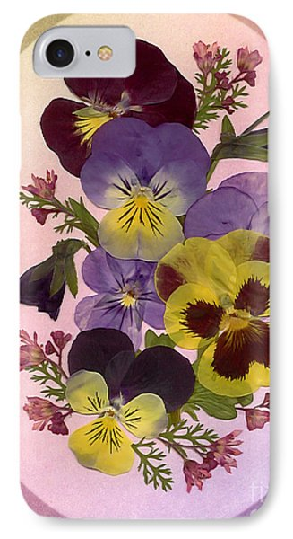 Pressed Pansies IPhone Case