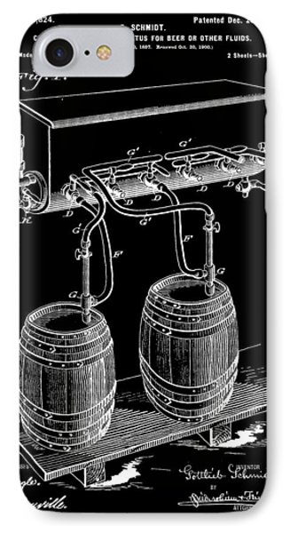 Pressure Apparatus For Beer Patent 1897 - Black IPhone Case by Stephen Younts