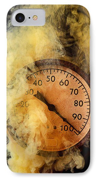 Pressure Gauge With Smoke Phone Case by Garry Gay