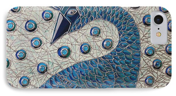 IPhone Case featuring the painting Pretty As A Peacock  by Cynthia Snyder