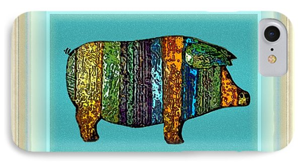 Pretty As A Pig-ture IPhone Case by Dale   Ford