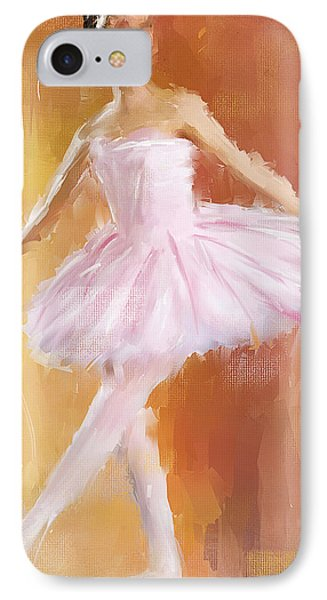 Pretty Ballerina IPhone Case by Lourry Legarde